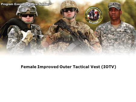 Female Improved Outer Tactical Vest (IOTV)