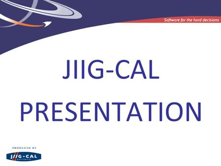 JIIG-CAL PRESENTATION. Overview of Career Voyage Launch of new Career Compass.