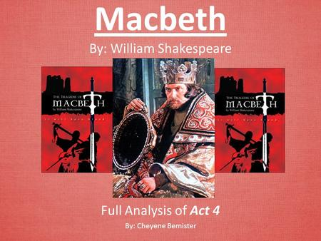 an analysis of blood in macbeth by william shakespeare Yes, analyzing analysis isn't particularly exciting but it can, at least, be enjoyable macbeth by william shakespeare home / literature / macbeth / analysis.