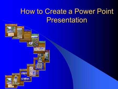 How to Create a Power Point Presentation. Topics that will be covered: 1) Getting Started 2) Common Features 3) Working with Text 4) Working with Graphics.