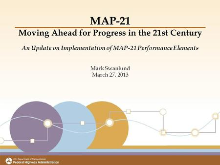 Title Subtitle Meeting Date Office of Transportation Performance Management MAP-21 Moving Ahead for Progress in the 21st Century An Update on Implementation.