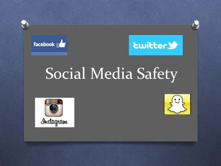 Social Media Safety. Discuss O As a class discuss the different types of social media and what it is used for.