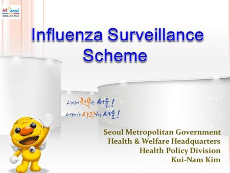 Seoul Metropolitan Government Health & Welfare Headquarters Health Policy Division Kui-Nam Kim.