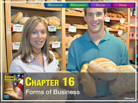 Forms of Business: –Sole Proprietorship –Partnership –Corporations –Limited Liability Company –S-Corporation –Cooperative.