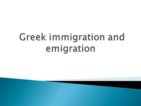 Over the past 20 years, Greece has become a receiver of migrants and a permanent immigrant destination. Most of these new immigrants hail from Central.