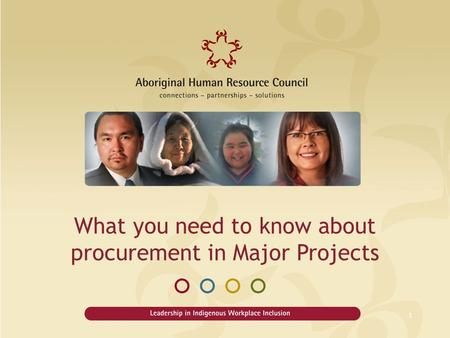 What you need to know about procurement in Major Projects 1.