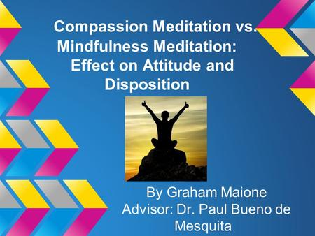 Compassion Meditation vs. Mindfulness Meditation: Effect on Attitude and Disposition By Graham Maione Advisor: Dr. Paul Bueno de Mesquita.