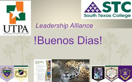 "1 Leadership Alliance !Buenos Dias!. A Commitment to Excellence "" The quality of a person's life is in direct proportion to their commitment to excellence,"