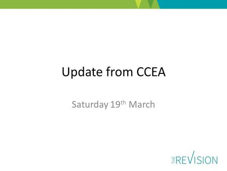 Update from CCEA Saturday 19 th March. Agenda GCSE Food and Nutrition GCE Nutrition and Food Science Entry Level Home Economics NI Year of Food and Drink.