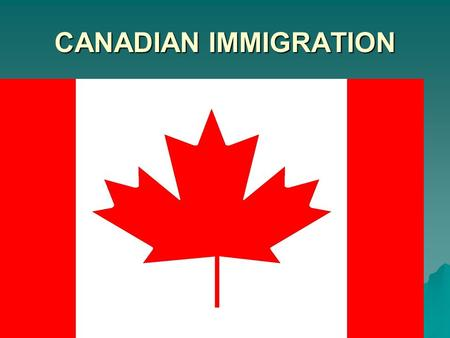 CANADIAN IMMIGRATION. How well do Canada's immigration laws and policies respond to immigration issues?  Canadian government- chooses who can or cannot.