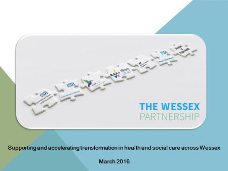 Supporting and accelerating transformation in health and social care across Wessex March 2016.
