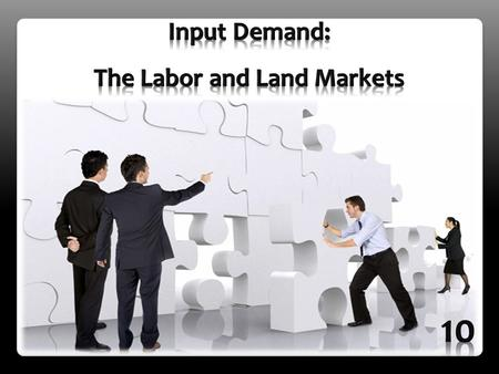Derived demand is demand for resources (inputs) that is dependent on the demand for the outputs those resources can be used to produce. Inputs are demanded.