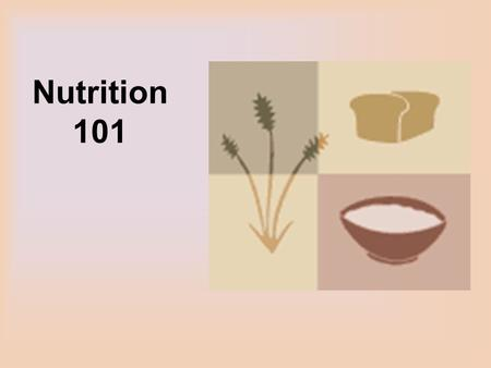 Nutrition 101. Our Need for Food Diet supplies essential nutrients to carry out growth, repair and maintenance.