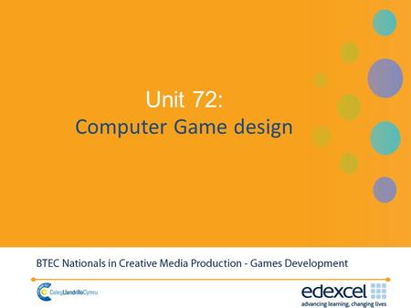 Unit 72: Computer Game design