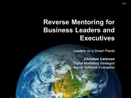 When worlds collide: does 'reverse mentoring' work?