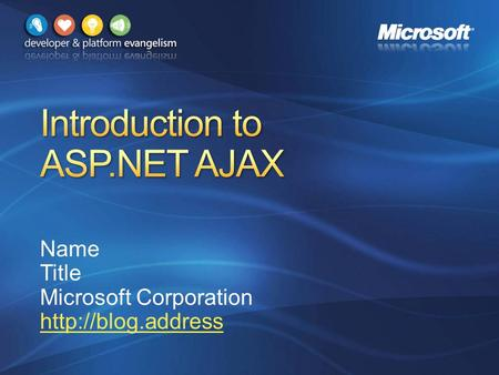 Name Title Microsoft Corporation