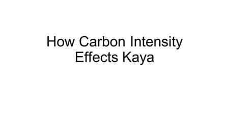 How Carbon Intensity Effects Kaya. Population 2014 Population Growth Rates USA:.77 Definition: The average annual percent change in the population, resulting.