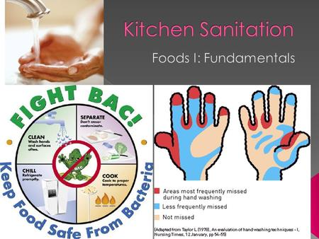  Kitchen Sanitation is the cleanliness of equipment & facilities, and includes personal hygiene practices.  Food Safety is how food is handled to prevent.