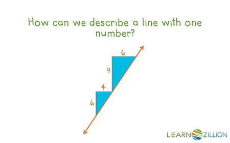How can we describe a line with one number? 4 6 6 9.