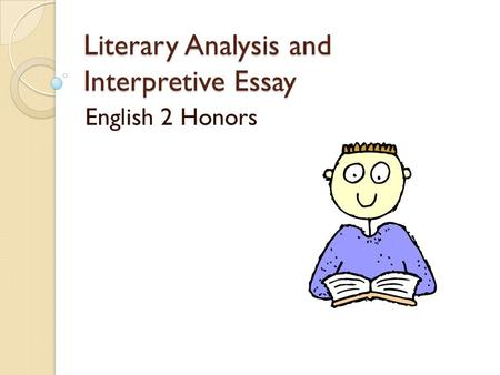 Interpretive essay unit of study