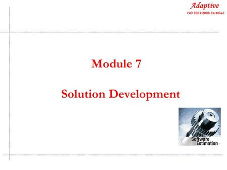 Quality Consulting Module 7 Solution Development.