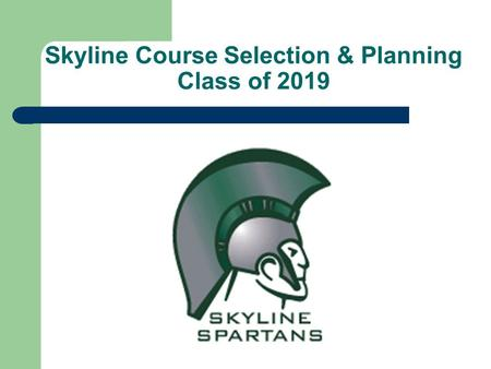 Skyline Course Selection & Planning Class of 2019.