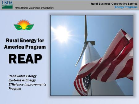 Renewable Energy Systems & Energy Efficiency Improvements Program.