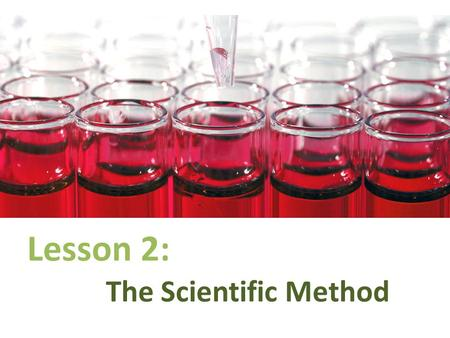 Lesson 2: The Scientific Method. What is the Scientific Method? The Scientific Method is a logical and rational order of steps by which scientists come.