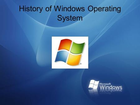 History of windows operating systems