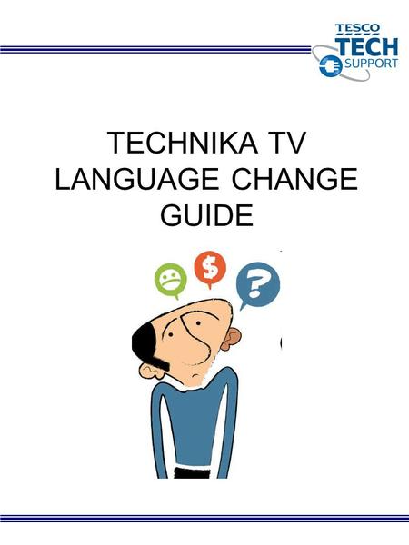 TECHNIKA TV LANGUAGE CHANGE GUIDE