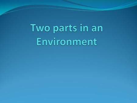Biotic(living) parts of an environment. The organisms that live together and interact with one another.