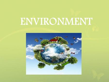 activities affecting the environment