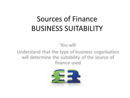 introduction to sources of finance