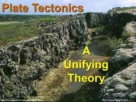 Plate Tectonics A Unifying Theory  Mid-Atlantic Ridge, Iceland.