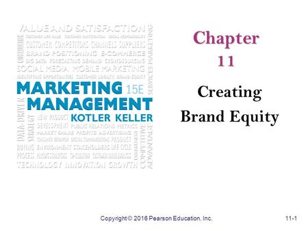 Chapter 11 Creating Brand Equity.