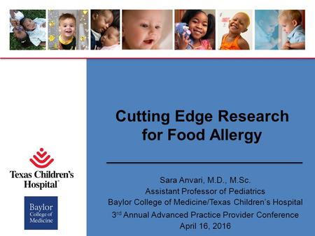 Outline Understanding Food Allergies Novel Food Allergy Investigations