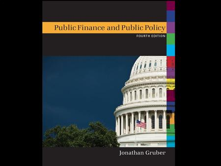 1 of 35 Public Finance and Public Policy Jonathan Gruber Fourth Edition Copyright © 2012 Worth PublishersCopyright © 2010 Worth Publishers.