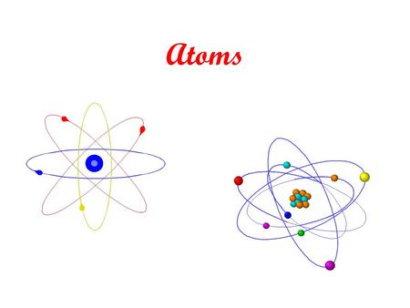 Atoms. The History of an Atom The structure of atoms is real simple. The Greeks had the right idea – they knew about atoms. After that, all kinds of crazy.