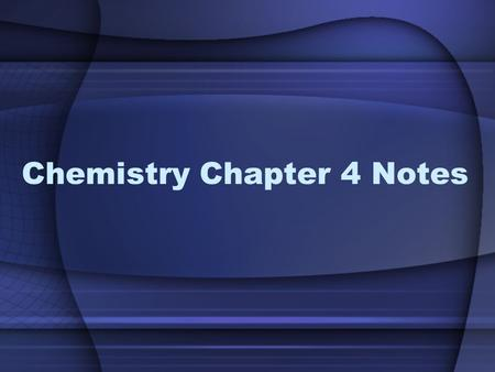 Chemistry Chapter 4 Notes. What you need to know from 4.1-4.2 Mendeleev organized the periodic table first and put the elements in order of increasing.