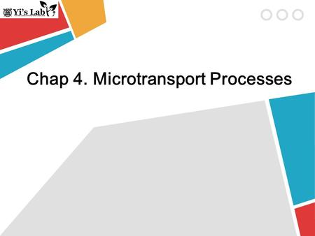 Chap 4. Microtransport Processes. Diffusive Mass Transport -Differential control volume-