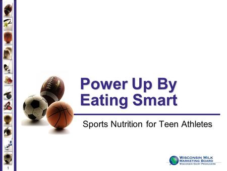 1 Power Up By Eating Smart Sports Nutrition for Teen Athletes.