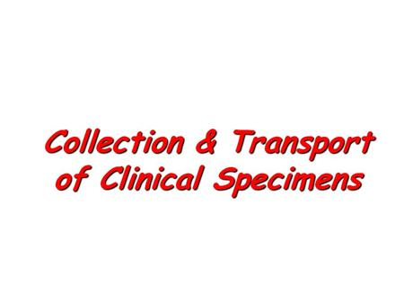 Collection & Transport of Clinical Specimens. Sore throat A swab from tonsils or pharynx to be cultured on the day of sampling for B-haemolytic streptococci.