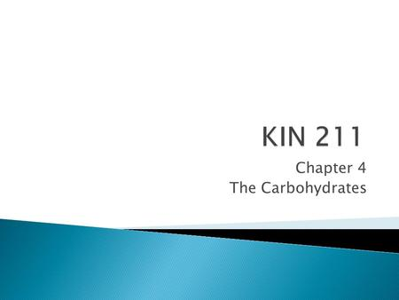 Chapter 4 The Carbohydrates.  Carbohydrates are made of carbon, hydrogen and oxygen atoms.