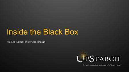 Making Sense of Service Broker Inside the Black Box.