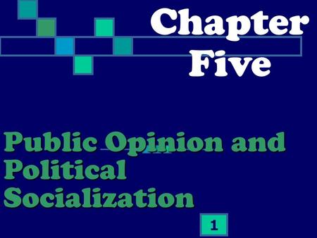 1 Chapter Five Public Opinion and Political Socialization.