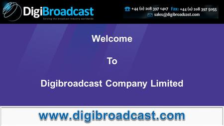 Welcome To Digibroadcast Company Limited. We are authorised dealer of Panasonic Camcorder, buying through DigiBroadcast will remain a fruitful purchase.