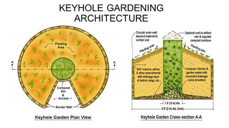 KEYHOLE GARDENING ARCHITECTURE. KEYHOLE GARDENING GARDEN LOCATION SELECT AREA THAT GETS 6 TO 8 HOURS OF SUN HAS WATER SOURCE NEAR AWAY FROM TREES CLOSE.
