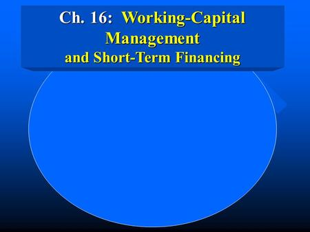 concepts of working capital and short term finance Ds-concept's trade finance facility provides a steady replenishment of working  capital which puts the client in a position to maximize growth.