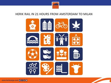 HERIK RAIL IN 21 HOURS FROM AMSTERDAM TO MILAN. HERIK RAIL A DIRECT RAILCONNECTION THROUGH THE ALPS A good alternative for road transportation to Italy.