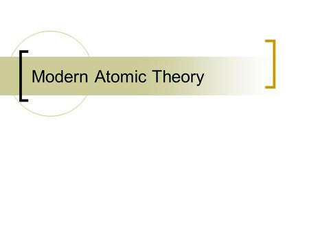 Modern Atomic Theory. Rutherford's Atom Rutherford and his coworkers were able to show that the nucleus of the atom is composed of Protons and Neutrons.